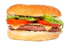 De hamburger van de kaas Stock Foto's