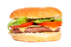 De hamburger van de kaas Royalty-vrije Stock Afbeeldingen