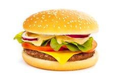 De hamburger van de kaas Stock Fotografie