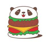 De hamburger van de Kawaiipanda Stock Foto's