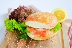 De Hamburger van de lunchtijd Stock Foto's