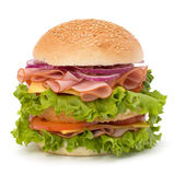 De hamburger van de ongezonde kost Stock Foto