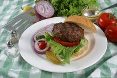 De hamburger van elanden Stock Fotografie