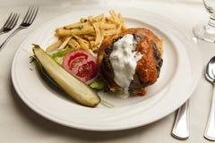 De Hamburger van het lam op Lijst Royalty-vrije Stock Foto's