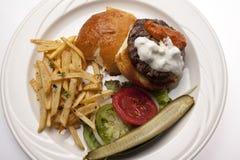 De Hamburger van het lam op Plaat Royalty-vrije Stock Fotografie