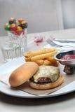 De Hamburger van het rundvlees Royalty-vrije Stock Afbeelding