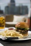 De Hamburger van het Rundvlees van Kobe Stock Fotografie