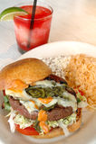 De Hamburger van Jalapeno royalty-vrije stock fotografie