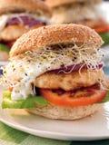 De hamburger van vissen Stock Foto's