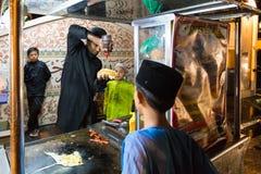 De hamburgerdienst in Penang Royalty-vrije Stock Foto's