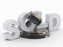 De hamer, tribuneinschrijving wordt verkocht Royalty-vrije Stock Fotografie