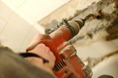 De hamer van de breker in gebruik stock foto's