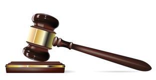 De hamer van de rechter royalty-vrije illustratie