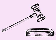 De hamer van de rechter Stock Afbeelding