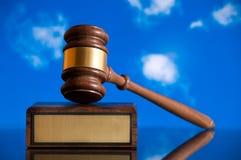 De Hamer van de rechtvaardigheid Stock Afbeeldingen