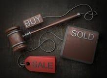 De hamer van de veiling Royalty-vrije Stock Afbeelding