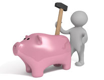 De hamer van Piggy Royalty-vrije Stock Afbeelding