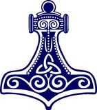 De hamer van Thors - bescherming amulett stock illustratie