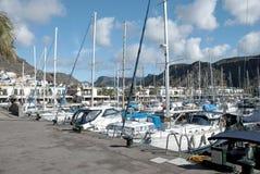 de hamn mogan puerto Arkivbilder