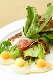 De hamsalade van Parma Stock Afbeeldingen