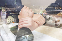 3 de hand assembleert Groepswerk voor succes van de zaken Royalty-vrije Stock Afbeelding