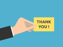 De hand, dankt u nota neemt van Stock Illustratie