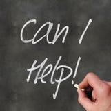 De hand die 'kan ik helpen' schrijven Stock Foto's