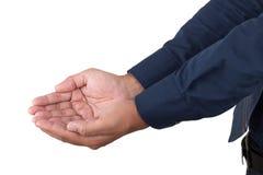 De hand en de holding van de mensenaanbieding niets Stock Foto's