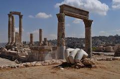 De hand en de tempel van hercules Royalty-vrije Stock Afbeeldingen