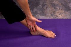 De hand en de voet van Yogic Royalty-vrije Stock Foto