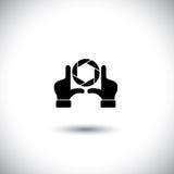 De hand en het blind van de regisseur - het maken van film vector illustratie