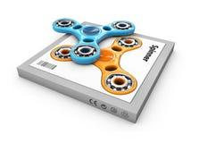De hand friemelt spinnersstuk speelgoed in de doos, 3d Illustratie Royalty-vrije Stock Fotografie
