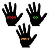 De hand gaat einde wacht Stock Foto