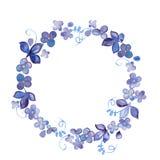 De hand geschilderde kroon van Waterverfbloemen Royalty-vrije Stock Afbeeldingen