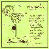 De hand getrokken cocktail van Margarita Royalty-vrije Stock Fotografie