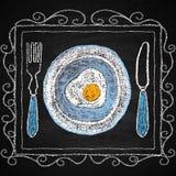 De hand getrokken elementen van het restaurantmenu Royalty-vrije Stock Afbeeldingen
