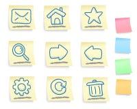 De hand getrokken geplaatste pictogrammen van Internet en van het Web Royalty-vrije Stock Foto