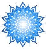 De hand getrokken illustratie van krabbel overladen mandala Royalty-vrije Stock Foto