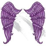De hand getrokken vleugels van de tatoegeringsstijl Royalty-vrije Stock Foto
