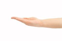 De hand houdt in horizontaal Stock Foto's