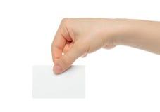 De hand houdt lastenkaart stock fotografie