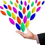 De hand met kleur doorbladert Stock Foto
