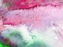 De hand mooi behang waterverf abstract achtergrond van de overzeese golfdecoratie Royalty-vrije Stock Afbeelding