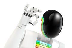 De hand O.K. teken van de robot vector illustratie