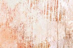 De hand schilderde acrylcanvasachtergrond met borstelslagen Royalty-vrije Stock Foto's