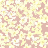 De hand schilderde het geweven witte naadloze patroon van de lentebloemen Royalty-vrije Stock Fotografie