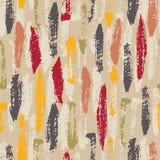 De hand schilderde Kleurrijke Borstelslagen op Beige Abstract Vector Naadloos Patroon Als achtergrond Creatieve Manifesttekens stock illustratie