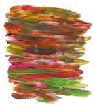 De hand schilderde multicolored achtergrond Royalty-vrije Stock Afbeelding