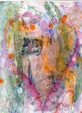 De hand schilderde Wild Hart op Gekke de Liefdehaat van de Achtergrondopschuddingsspanning Royalty-vrije Stock Fotografie