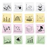 De hand trekt beeldverhaal op document notastickers. Royalty-vrije Stock Afbeeldingen